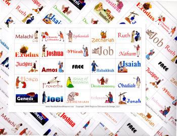 Books of the Bible Bingo sets