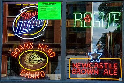 Bar Window in Old City Philadelphia
