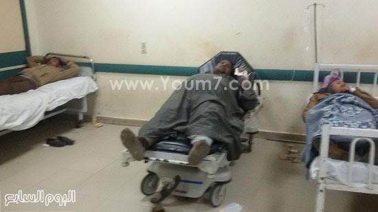 المصابين فى حادث انقلاب قطار ركاب بنى سويف (3)