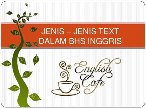 jenis jenis text bahasa inggris lengkap british