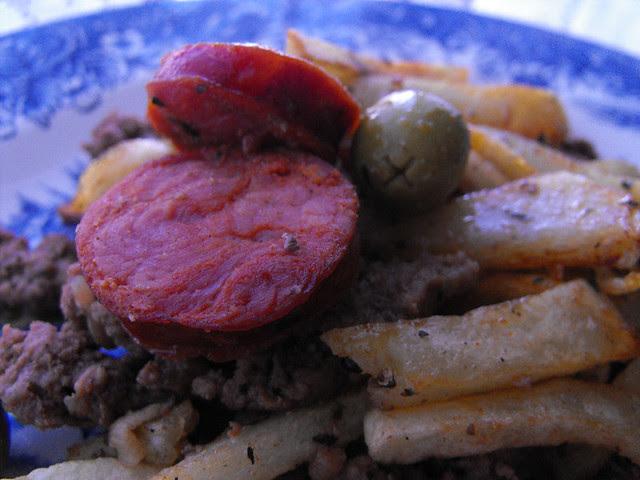 Carne Picada com Linguica