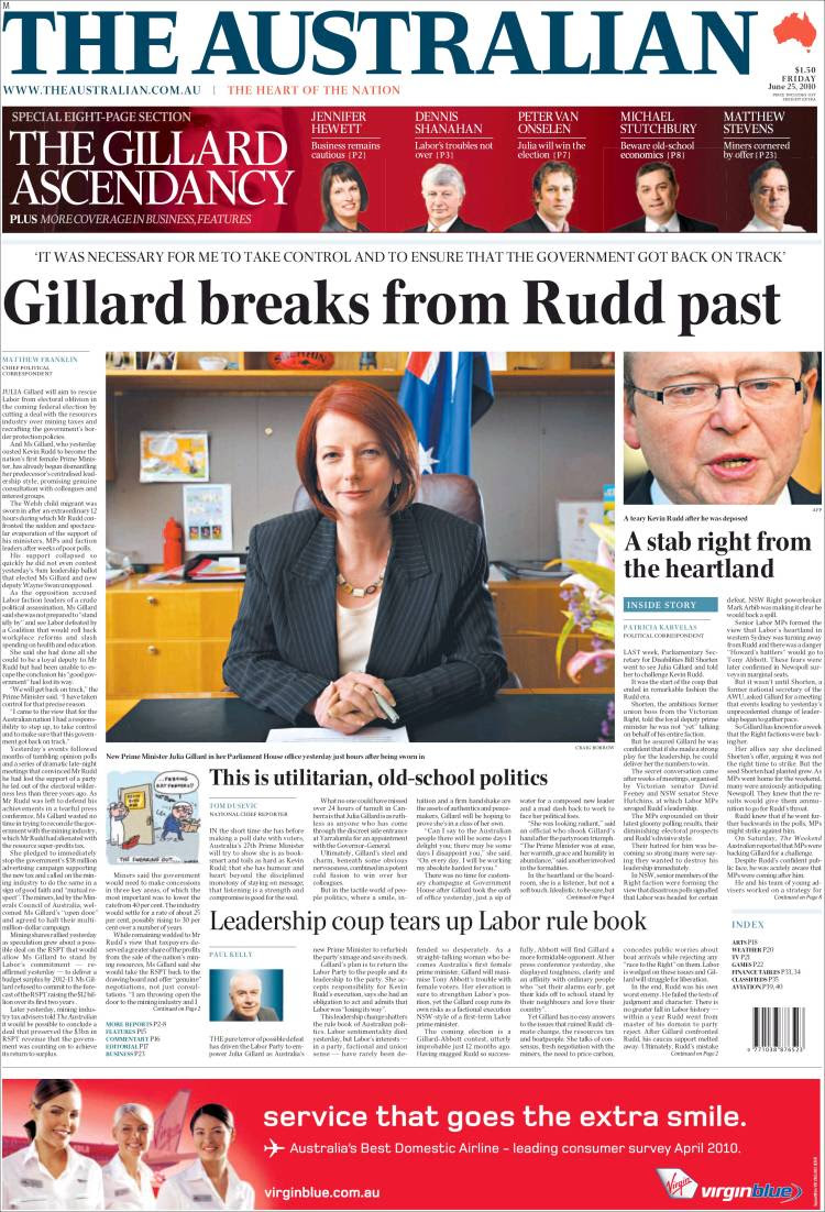Image result for the australian newspaper front page