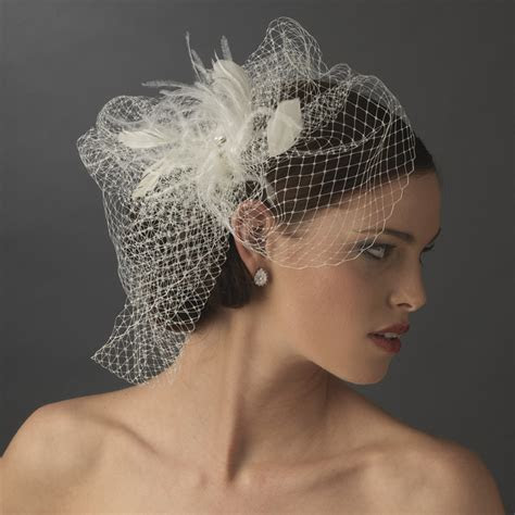 feather rhinestone couture feather fascinator birdcage