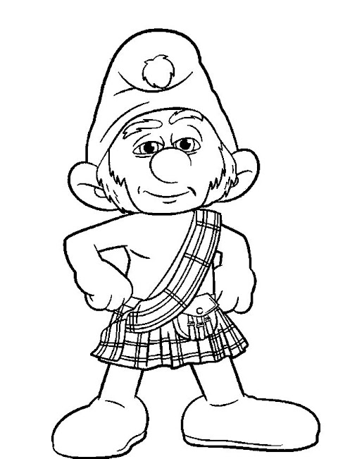 Cool Smurfs Coloring Pages