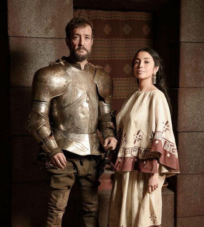 Iazua Larios como La Malinche en la serie de la TVE Carlos, Rey Emperador. Foto: TVE