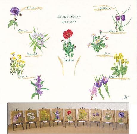 Plan De Table Et Chevalets En Bois Hyperréalisme Par