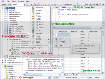 All in one database manager freeware