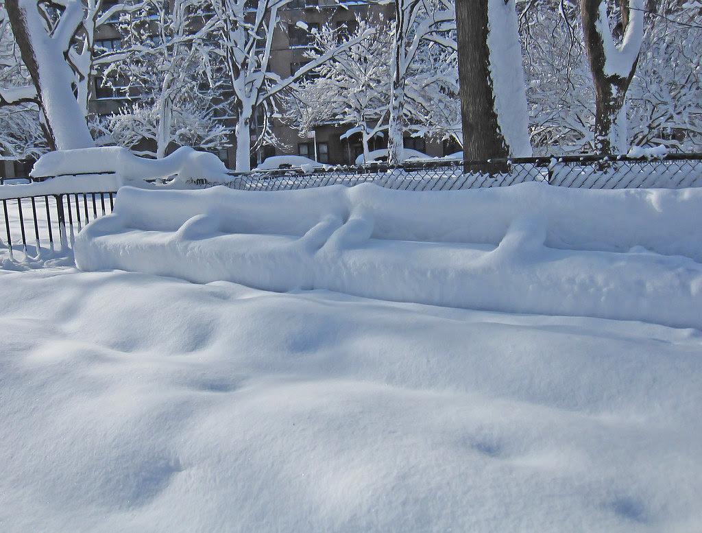 Unmolested snow in Tompkins Square