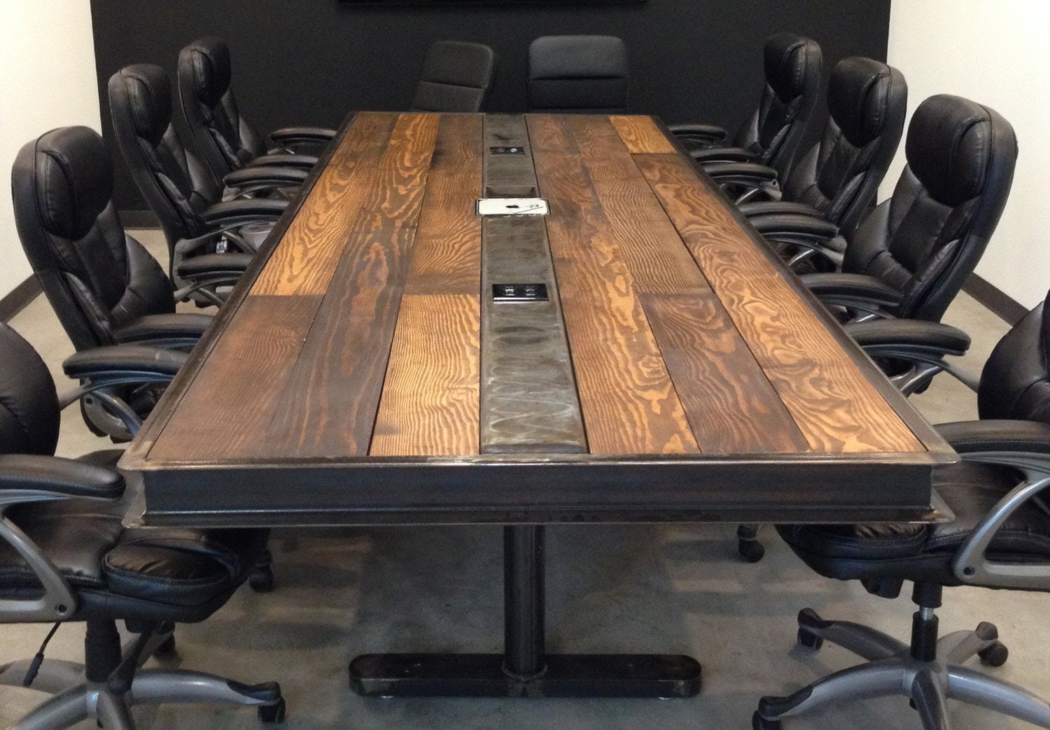 Items similar to Industrial/Vintage Conference Room Table ...