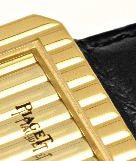 Foto 3, Piaget Polo Längsstreifen Damenarmbanduhr 18K Gelb-Gold, U2043