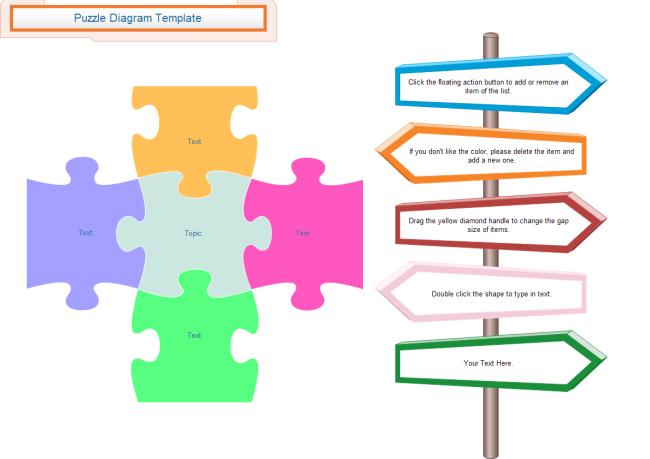 Blank Puzzle Diagram | Free Blank Puzzle Diagram Templates