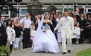 credit crunch bride  wore   wedding dress