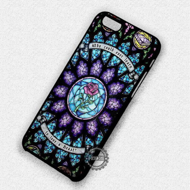 Phone Cover Cartoon Disney Rose Quote On It Beauty And The