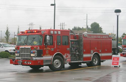 Firetruck Headed to Work