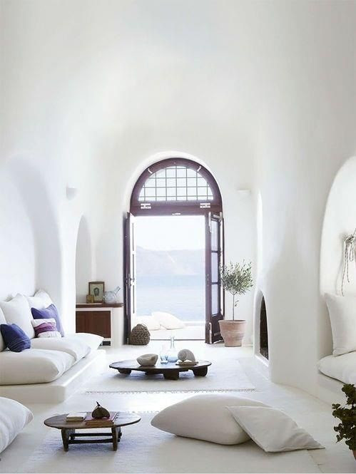 All white vacation home