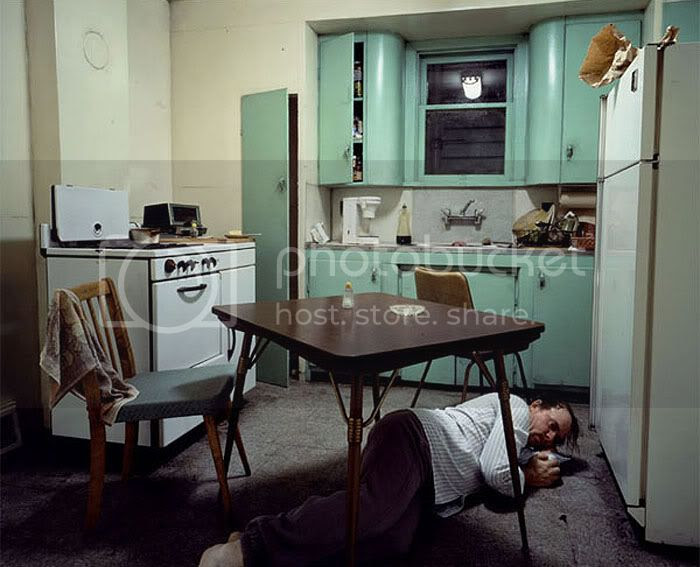 Insomnia 1994,Transparency in lightbox 1722 x 2135 mm, Hamburger Kunsthalle, Hamburg, Cinematographic photograph, © Jeff Wall