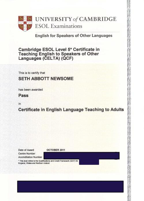 Celta Online Certification Prepares Teachers