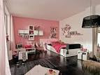Girls Bedroom Design With Black Standing Lamp, Floating Wall ...