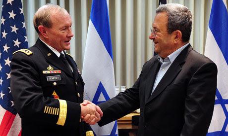 O general Martin Dempsey reúne-se com Ehud Barak