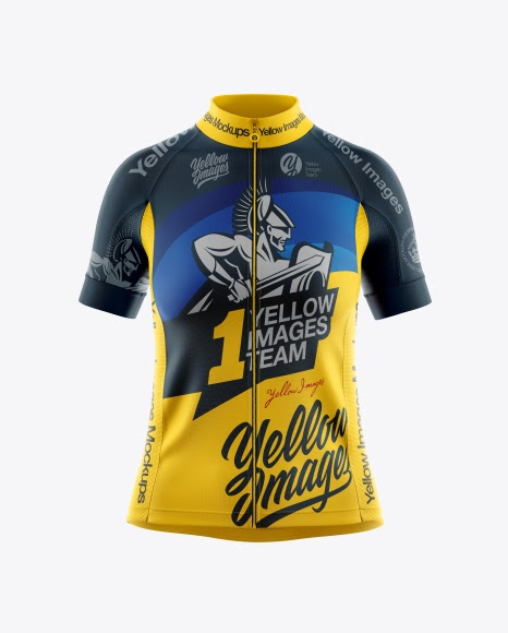 Download Women's Full-Zip Cycling Jersey Mockup - Front View ...