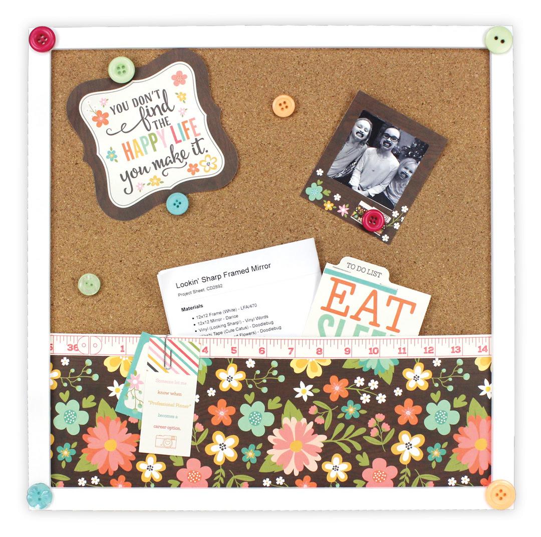 Happy Life Cork Board Frame Crafts Direct