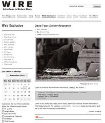 Wire online David Toop article