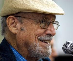 El poeta Roberto Fernández Retamar, Presidente de la Casa de las Américas.