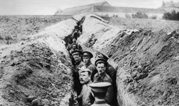 World War One trenches was hell on earth for British soliders ...