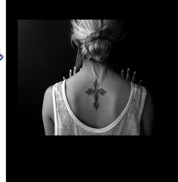 Amazing Girls Back Cross Tattoo Tattoomagz