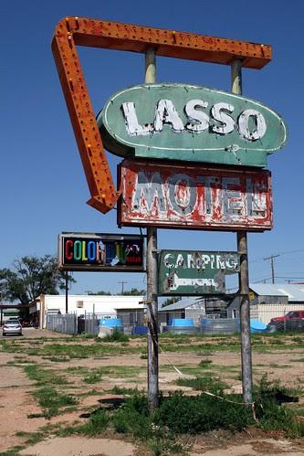 lasso motel neon sign
