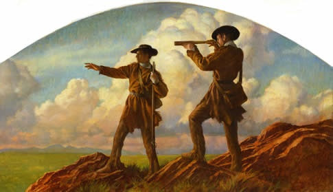 Lewis and Clark observing
