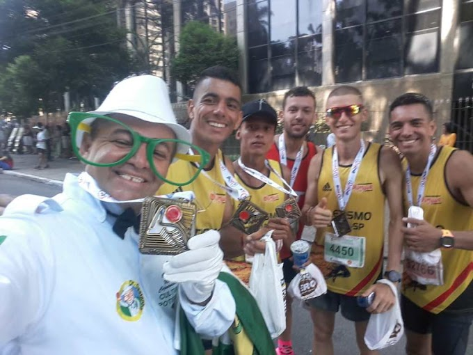 Imagens: Dr. Castanha participa da São Silvestre e o divulga o RN