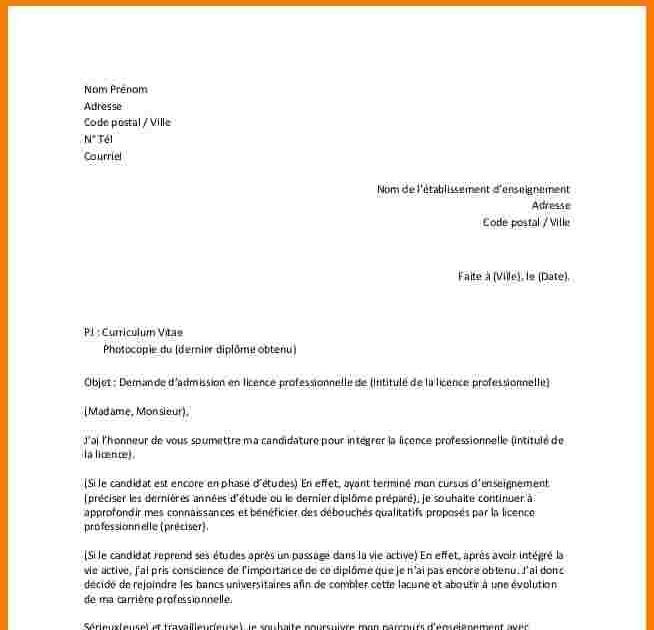 Lettre De Motivation Licence Professionnelle Hotellerie ...
