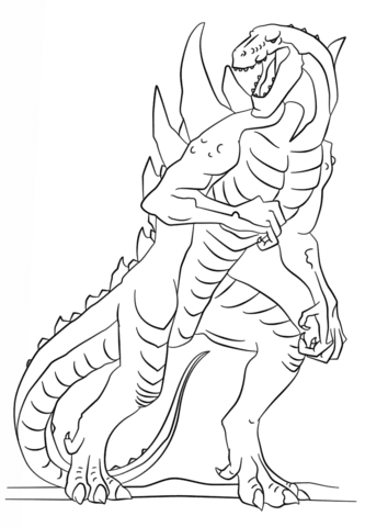 godzilla the series coloring page