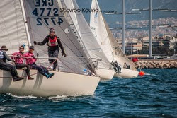 J/24s sailing in Greece National series
