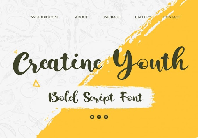 Creatine Youth | Bold Script Font
