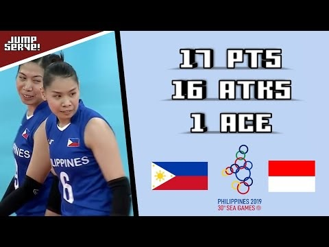 Ces Molina Highlights (Battle for Bronze) Philippines 🇵🇭 Vs. 🇮🇩 Indonesia | SEA Games 2019