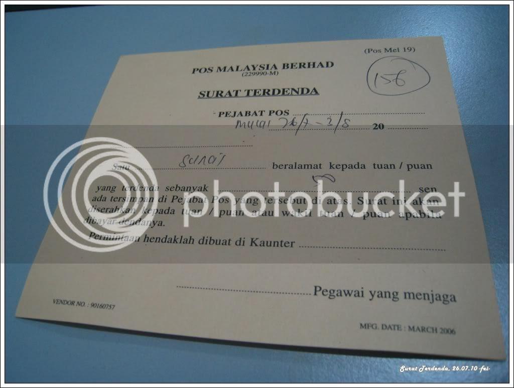 Surat Terdenda Notice Card