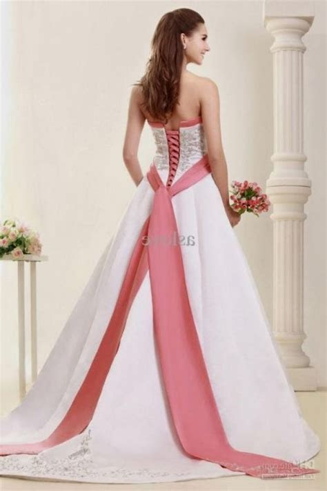 plus size wedding dresses with color accents 2016 2017