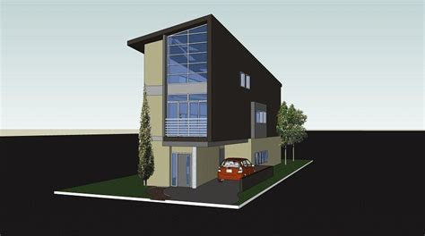 luxury narrow lot modern infill house plans  home