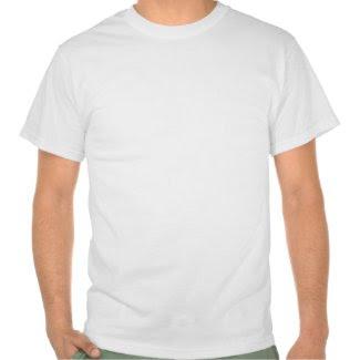 White Circles on Green Tee Shirt