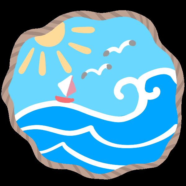 海の風景のイラスト かわいいフリー素材が無料のイラストレイン