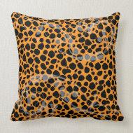 Cool Orange Leopard Pattern throwpillow