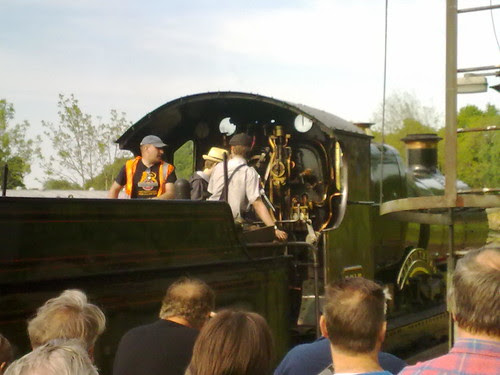 Cal on the footplate!