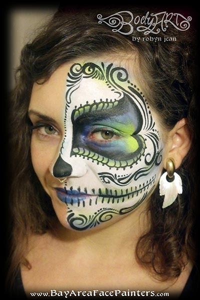 Bay Area Face Painters Sugar Skulls Day Of The Dead Dia De Los