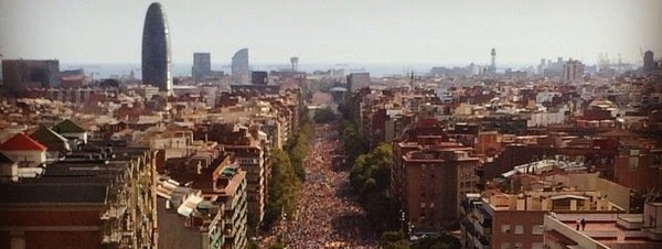 El independentismo vuelve a mostrar su fuerza con la Via Lliure en plena campaña