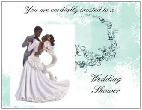 20 African American Wedding Couple BRIDAL Shower