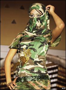 Libyan model Shaima in a show in Tripoli