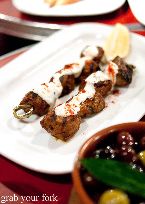 Beef skewer at The Carrington Surry Hills