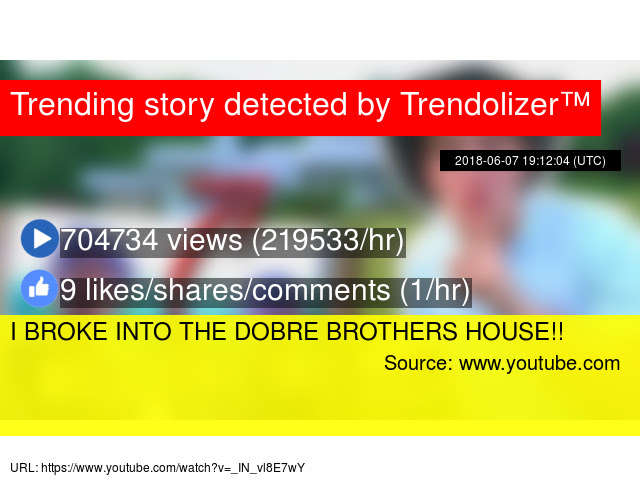 I Broke Into The Dobre Brothers House